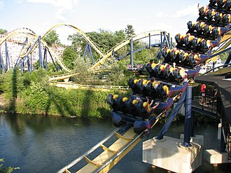 Dominator (roller coaster) - Dominator while it was at Geauga Lake