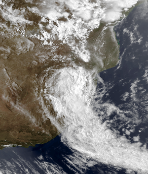 Tropical Storm Domoina - Domoina over South Africa