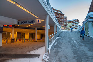 Dorfbahn Serfaus funicular (Serfaus, Austria)
