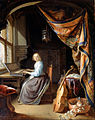 Dou, Gerrit - A Woman playing a Clavichord - Google Art Project.jpg