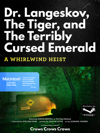 Picture of a game: Dr. Langeskov, The Tiger, And The Terribly Cursed Emerald: A Whirlwind Heist