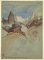Drawing, Looking up the Trail at Bright Angel, Grand Canyon, Arizona, May 1901 (CH 18189951).jpg