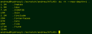 Example screenshot of du in a terminal