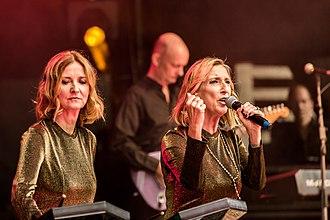 Propaganda (band) - Susanne Freytag and Claudia Brücken performing Propaganda songs as D:uel at Nocturnal Culture Night 2018