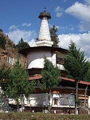 Dungtsi Lhakhang Stupa-Paro-Bhutan-2007 11 11