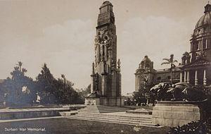 The Cenotaph, Durban - Image: Durban War Memorial postcard