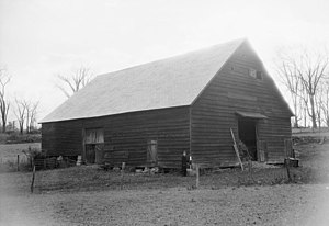 Dutch barn - Dilapidated Dutch barn in upstate New York recorded by the Historic American Buildings Survey in 1937