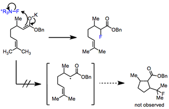 Electrophilic fluorination - Image: EF Mech 1