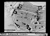 City plan of Dubrovnik in 1930s