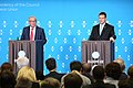 EU2017EE opening press conference with European Commission President Jean-Claude Juncker and Estonian Prime Minister Jüri Ratas Jean-Claude Juncker and Jüri Ratas (35626542865).jpg