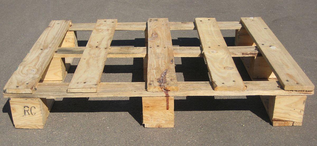 Einweg-Palette aus Holz / Einweg-Palette aus Kunststoff