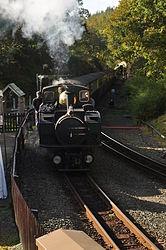 Earl of Merioneth at Tan-y-Bwlch railway station (8332).jpg