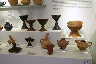 Minoan pottery - Early Minoan pottery from Pyrgos, 3000-2600 BC, Archaeological Museum of Heraklion (AMH)