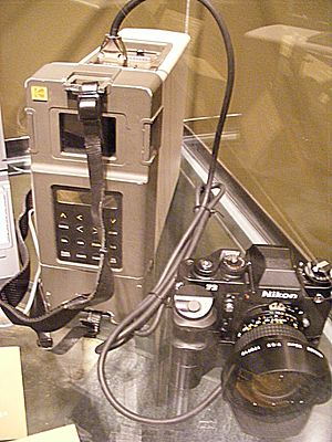 Kodak DCS - Kodak DCS 100, based on a Nikon F3 body with Digital Storage Unit, released in May, 1991.