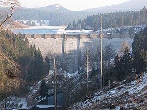 Ecker Dam - Dam wall