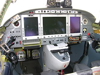 Electronic flight instrument system - EFIS on an Eclipse 500