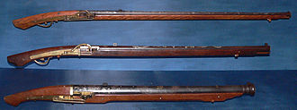 Warfare in pre-colonial Philippines - A sets of Arquebuse guns.