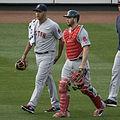 Eduardo Rodríguez and Blake Swihart on June 9, 2015.jpg