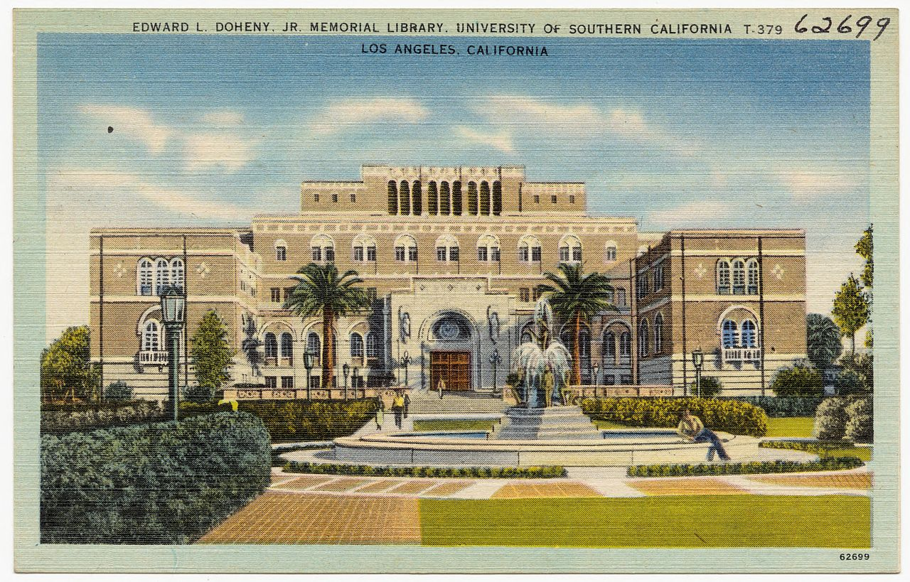 California Colleges And Universities >> File:Edward L. Doheny Jr. Memorial Library, University of Southern California, Los Angeles ...