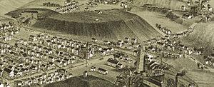 Edwardsville, Pennsylvania - A panoramic map of Edwardsville in 1891.