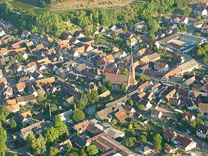 Eichstetten am Kaiserstuhl - Aerial view