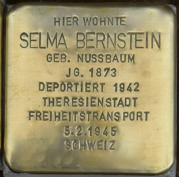 File:Ellrich-Stolperstein-Selma-Bernstein-CTH.JPG