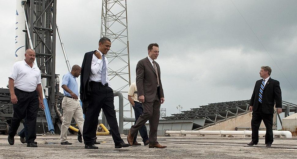 Elon Musk gives tour for President Barack Obama