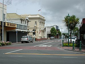 Eltham, New Zealand - The town centre of Eltham
