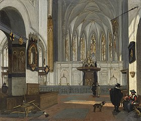 View of the Choir of the Janskerk in Utrecht