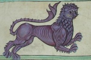 Kingdom of León - The purple lion emblem displayed in the Tumbo A.
