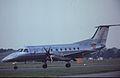 Embraer EMB-120RT Brasilia PT-SKY CSE Aviation, Farnborough UK, September 1988. (5589956108).jpg
