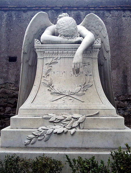 angel of gothic tombstone - photo #14