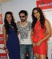 Emraan Hasmi, Esha Gupta & Bipasha Basu in Ahmedabad to Promote Raaz 3.JPG