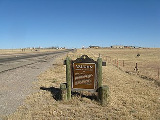 Vaughn, New Mexico - Entering Vaughn from the west