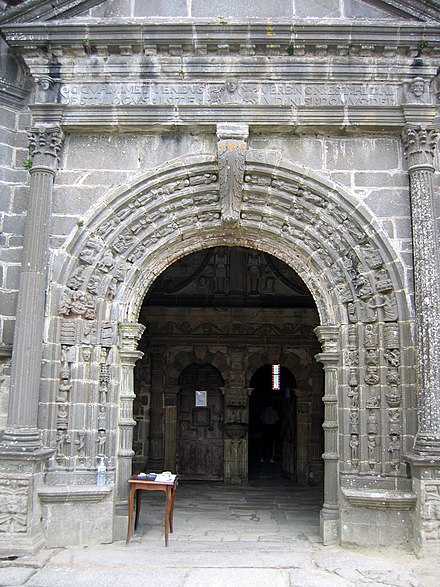 The entrance to the south porch