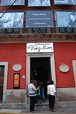Entrance to the Diego Rivera Museum in the city of Guanajuato, Mexico