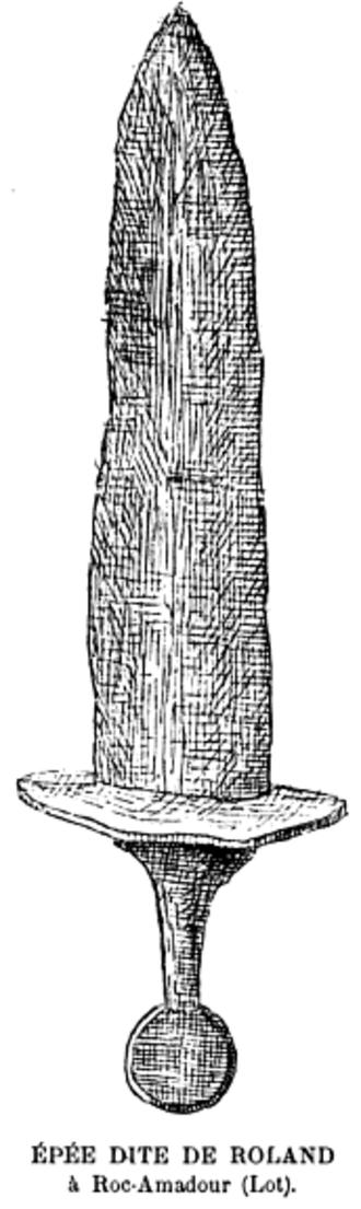 Durendal - Image: Epee roland Bull Soc Correze 14(1892) p 140