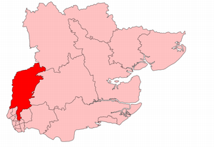 Epping (UK Parliament constituency) - Epping in Essex, boundaries 1918-45