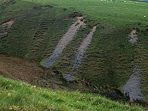 English: Erosion patterns This picture of the ...