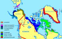 Eskimoiden asuinalueet