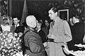 Eugène Fiset, Charles de Gaulle, Québec, 1944.jpg