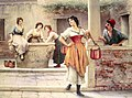 Eugene de Blaas Flirtation at the Well.jpg