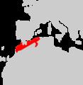 Eumeces algeriensis range Map.png