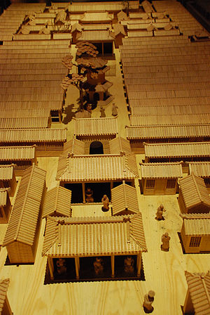 Imperial examination - A model of exam cells displayed at Beijing Imperial Academy