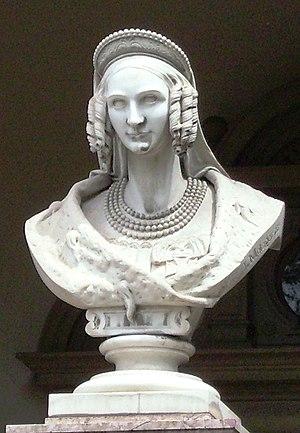 Eugénie de Beauharnais - Bust of Eugénie de Beauharnais at the Kinderbewahranstalt in Hechingen which she founded