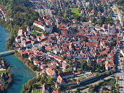 Aerial view of Füssen