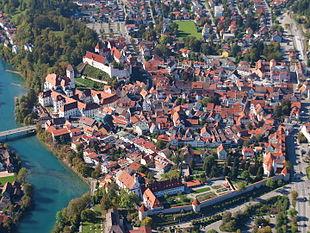 Aerial view of Füssen