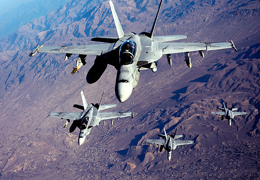 F-18's are refueled in Afghanistan