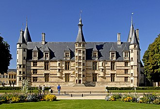 Nevers - The Ducal Palace of Nevers, in France.