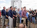 FEMA - 39290 - FEMA and local Officials speak at a press conference in Kansas.jpg